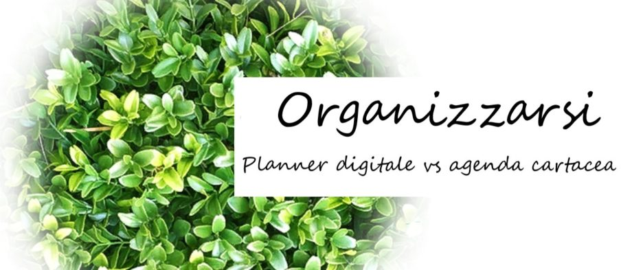 Planner: digitale vs cartaceo